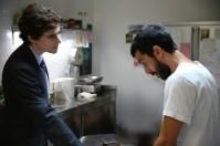 The upper class suit (Edoardo) and the working class shirt (Antonio)