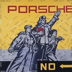 Wang Guangyi, Porsche (2005). Oil on canvas.