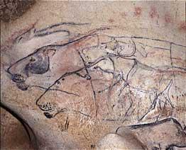 Jean-Marie Chauvet, panel of lions. © DRAC