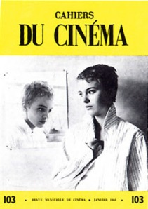 Cahiers du Cinema, Issue #103, with Jean Seberg in Breathless. Image courtesy of Cahiers du Cinema