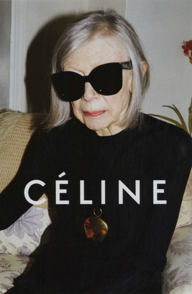 Joan Didion, image courtesy of Céline