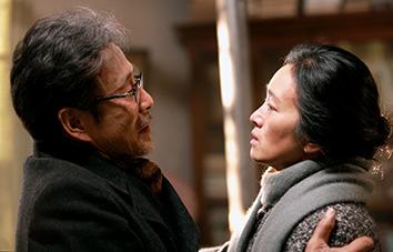 Chen Daoming as Lu Yanshi and Gong Li as Feng Wanyu. Photo by Bai XiaoYan, Courtesy of Sony Pictures Classics